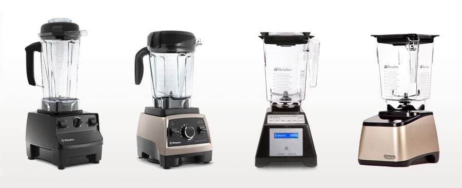 Vitamix vs Blendtec - line up