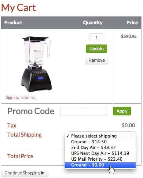 Blendtec promo code applied