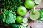 green smoothie with leafy greens