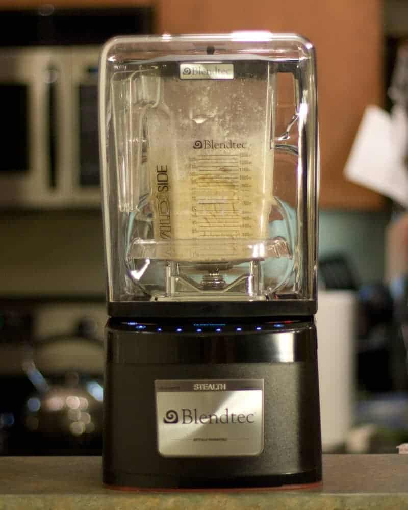 Blendtec Stealth making dough