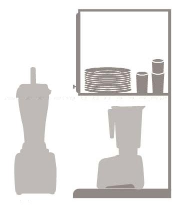 vitamix vs blendtec counter height comparison